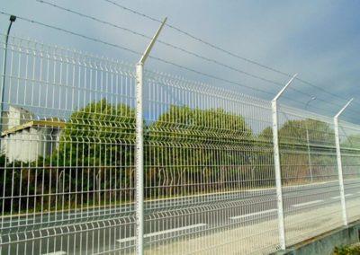 Pose de clôtures de sécurité sur la Zone Portuaire de Bassens (33)