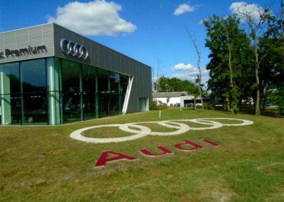 Création d'un logo extérieur pour la concession Audi Mérignac (33)