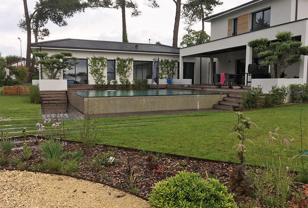 Aménagement complet d'un jardin de particulier à Gradignan (33)