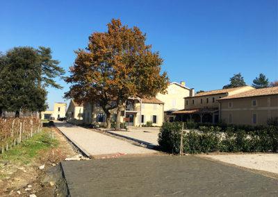 Aménagements paysagers du château Ripeau à Saint Émilion (33)