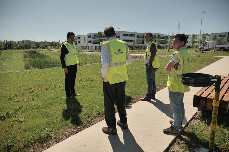 Visite du projet d'aménagement du domaine Geneste à Villenave d'Ornon