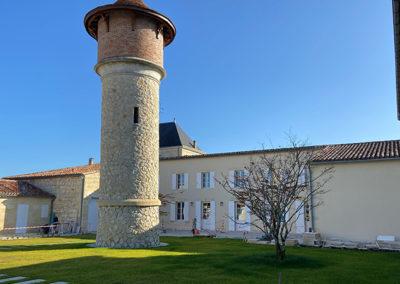 Requalification de le cour principale du Château Brane Cantenac dans le Médoc
